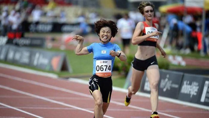 Sprinter Korea Selatan dengan Cerebral Palsy Memukau di GBK