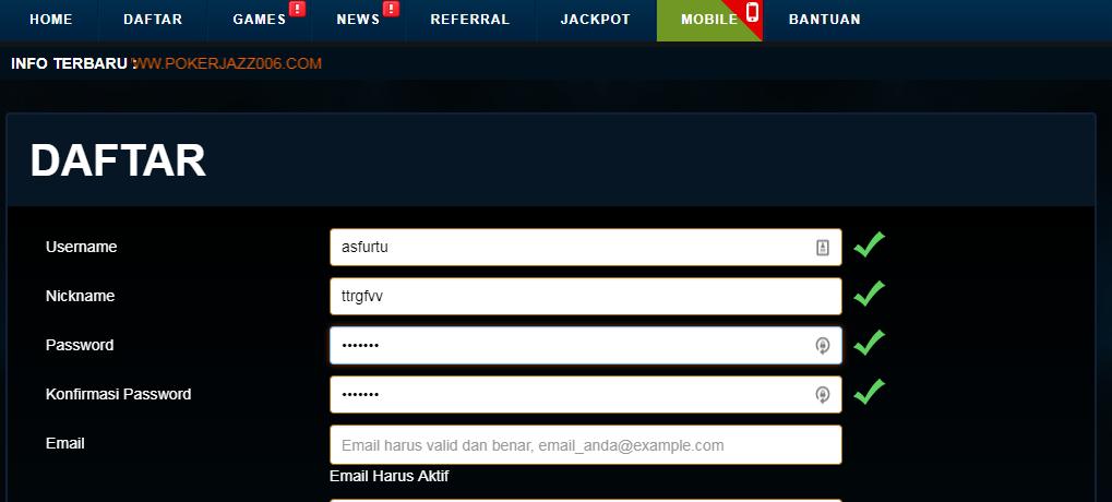 contoh daftar poker online yang benar