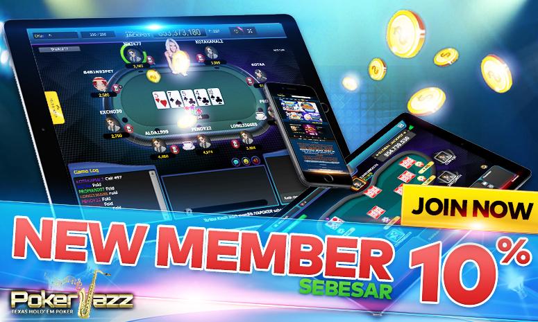 bonus new member agen poker online pokerjazz